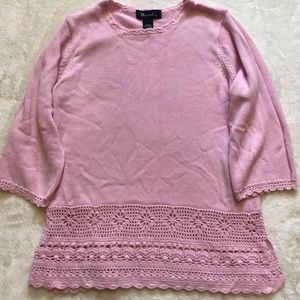 Denim&Co Knitted pink Sweater Top.
